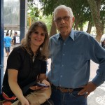Dr. Sebastião de Melo com a jornalista Terezinha Tarcitano, assessora de impressa da 61° Feira do Livro  em Porto Alegre, RS