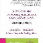 Convite para o lançando do livro de Sebastião de Melo